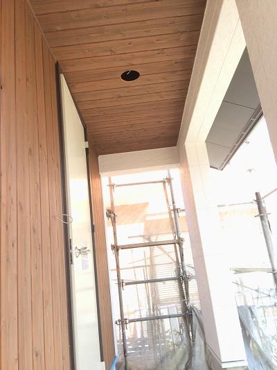 板張り天井塗装