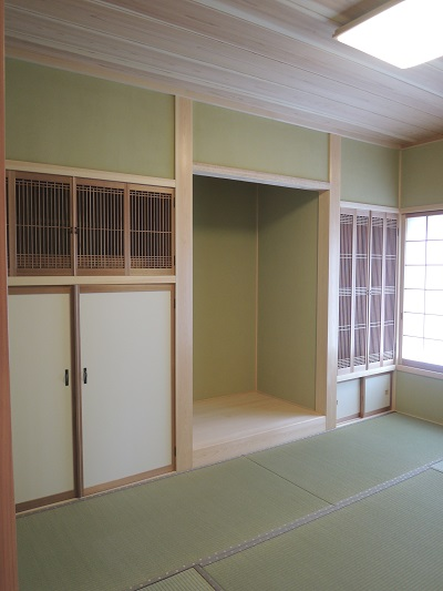 5豊橋市池見町 F様邸  真壁和室 神棚 仏間 板天井