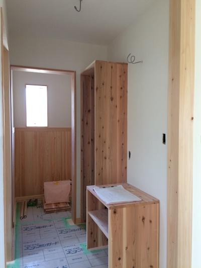 木製カウンター洗面台 豊橋市大岩町