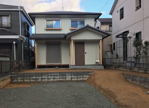 昭和の家っぽいレトロな外観